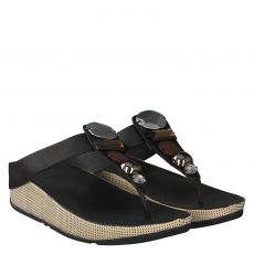 FITFLOP, JEWELY TOE POST, SCHWARZ