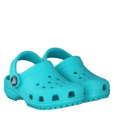 Crocs, Classic Kids, Gummi (synth.)-Pantolette in türkis für Mädchen