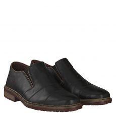 Rieker sportiver Glattleder-Slipper in schwarz für Herren