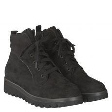 Waldläufer, Hodaya, kurzer Nubukleder-Stiefel in schwarz für Damen