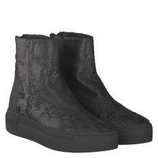Vic Matié kurzer Veloursleder-Stiefel in schwarz für Damen