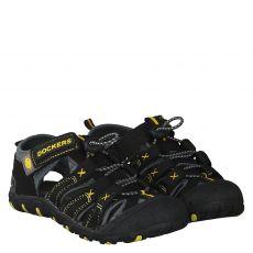 Dockers Kunstleder-Sandale in schwarz für Jungen