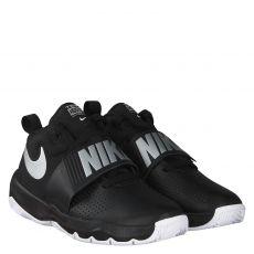 Nike, Team Hustle, Glattleder-Halbschuh in schwarz für Jungen