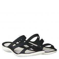 Crocs, Swifwater Sandal, Gummi (synth.)-Pantolette in schwarz für Damen