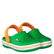 Crocs, Crocband Clog Kids, Gummi (synth.)-Pantolette in grün für Jungen