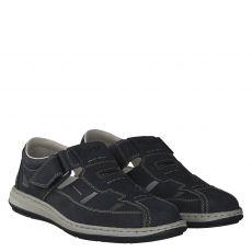 Rieker Nubukleder-Sandale in blau für Herren