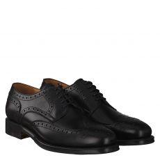 Berwick rahmengenähter Glattleder-Schuh in schwarz für Herren