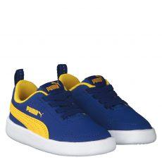 Puma, Courtflex Inf, Lauflernschuh in blau für Jungen