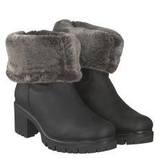 Panama Jack warmer Glattleder-Stiefel in schwarz für Damen