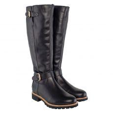 Panama Jack, Igloo Trav, warmer Glattleder-Stiefel in schwarz für Damen