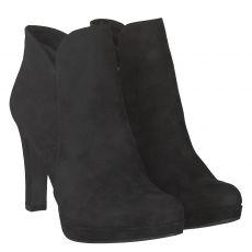 Tamaris kurzer Textil-Stiefel in schwarz für Damen