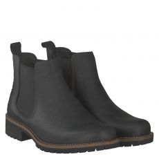 Ecco, Elaine, kurzer Glattleder-Stiefel in schwarz für Damen