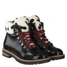 Schuhengel warmer Lackleder-Stiefel in schwarz für Damen