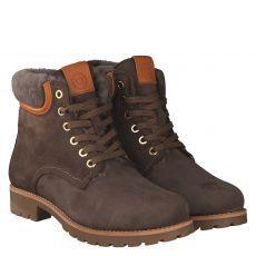 Schuhengel warmer Nubukleder-Stiefel in grau für Damen