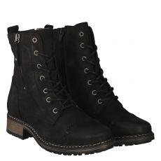 Schuhengel warmer Veloursleder-Stiefel in schwarz für Damen