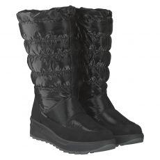 Schuhengel warmer Nylon-Stiefel in schwarz für Damen