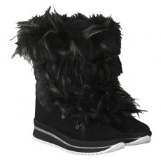 Schuhengel warmer Textil-Stiefel in schwarz für Damen