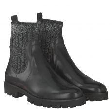 Maripé kurzer Glattleder-Stiefel in schwarz für Damen