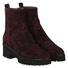 Maripé, Rot, kurzer Nubukleder-Stiefel in bordeaux für Damen
