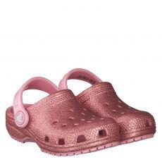 Crocs, Rot, Gummi (synth.)-Pantolette in rosé für Mädchen