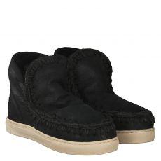 Mou, Sneak, warmer Veloursleder-Stiefel in schwarz für Damen