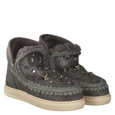Mou, Sneak, warmer Veloursleder-Stiefel in grau für Damen