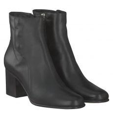 Pomme D'or kurzer Glattleder-Stiefel in schwarz für Damen