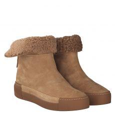 Vic Matié warmer Veloursleder-Stiefel in beige für Damen