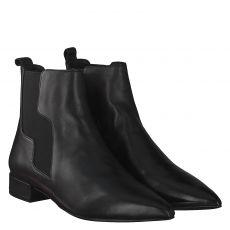 Bruno Premi kurzer Glattleder-Stiefel in schwarz für Damen