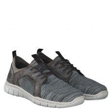 Rieker sportiver Textil-Slipper in grau für Herren
