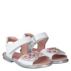 Daeumling Glattleder-Sandale in weiß für Mädchen