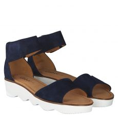 Gabor Veloursleder-Sandalette in blau für Damen