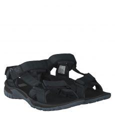 Jack Wolfskin, Lakewood Ride Sandal, Textil-Sandale in schwarz für Herren