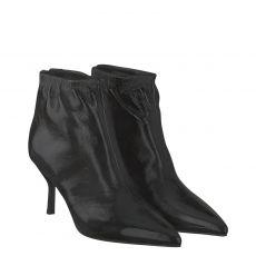 Marc Cain kurzer Knautschlack-Stiefel in schwarz für Damen
