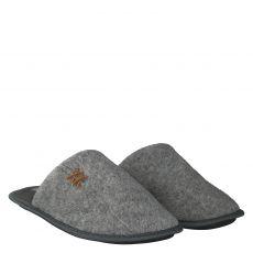Comforta Wolle/Schurwolle-Hausschuh in grau für Herren