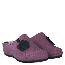 Tofee, Blau, Wolle/Schurwolle-Hausschuh in lila für Damen
