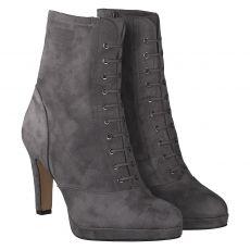 Tamaris kurzer Textil-Stiefel in grau für Damen