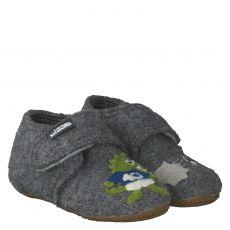 Livingkitzbühel Wolle/Schurwolle-Hausschuh in grau für Jungen