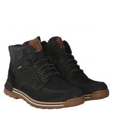 Fretzmen, Cooper, sportiver Nubukleder-Stiefel in schwarz für Herren