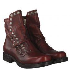 As 98 (airstep) kurzer Glattleder-Stiefel in rot für Damen