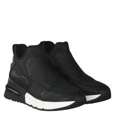 Ash Italia kurzer Glattleder-Stiefel in schwarz für Damen