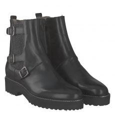 Luca Grossi, Captre, warmer Glattleder-Stiefel in schwarz für Damen