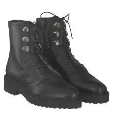 Luca Grossi, Kosp, warmer Glattleder-Stiefel in schwarz für Damen