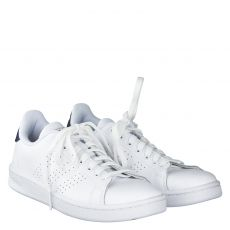Adidas, Advantage, sportiver Kunstleder-Schnürer in weiß für Herren