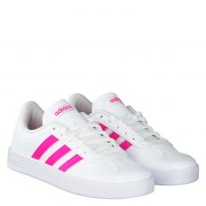Adidas, Vl Court 2.0 K, Kunstleder-Halbschuh in weiß für Mädchen