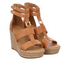 Ugg, Kolfax, Glattleder-Sandalette in braun für Damen