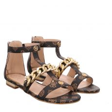 Guess Kunstleder-Sandalette in braun für Damen