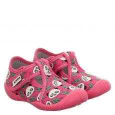 Romika, Petzi Druck, Textil-Hausschuh in pink für Mädchen