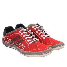 Bugatti, Canario, sportiver Textil-Slipper in rot für Herren