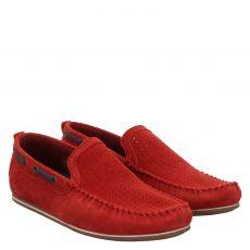 Bugatti, Cherokee Ii, eleganter Veloursleder-Slipper in rot für Herren